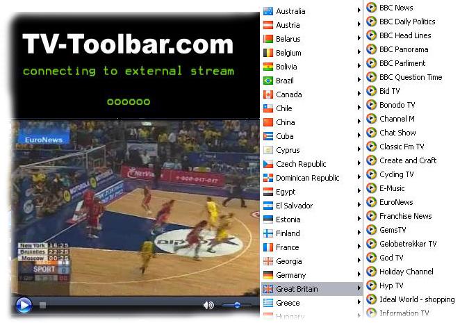 Live TV toolbar 1.0.9.0 screenshot